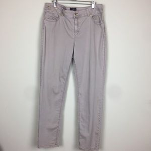 Chico's So Slimming Tan Ankle Jeans 2